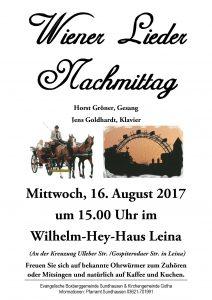 Mittwoch, 16. August 2017 im W.-Hey-Haus Leina