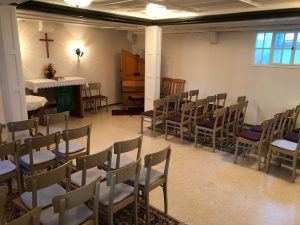 Stühle in der Winterkirche Gospiteroda